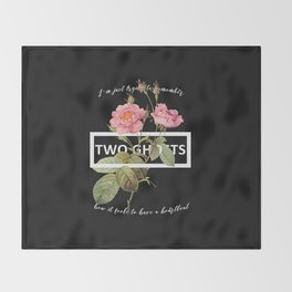 Harry Styles Two Ghosts graphic design Throw Blanket