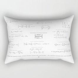 High-Math-Inspiration 01 - Black & Gray Rectangular Pillow