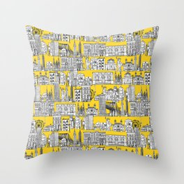 New York yellow Throw Pillow