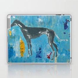 Greyhound Dog Abstract Painting Laptop & iPad Skin