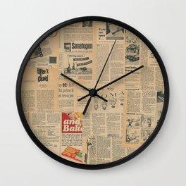Vintage Fifties Magazine Wall Clock