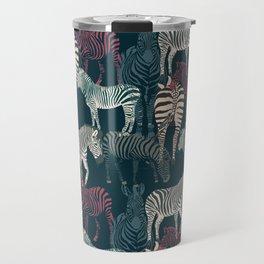 zebra navy Travel Mug