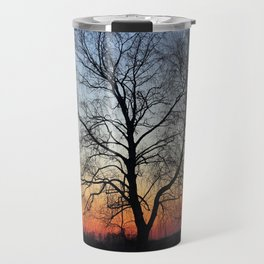 Sunset tree Travel Mug