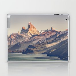 Fitz Roy and Poincenot Andes Mountains - Patagonia - Argentina Laptop & iPad Skin