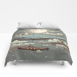Ocean Meets Sky Comforters