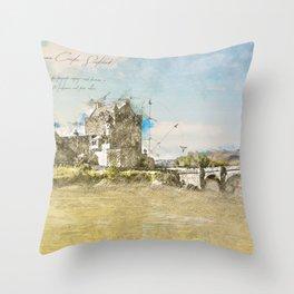 Eilean Donan Castle, Scotland Throw Pillow