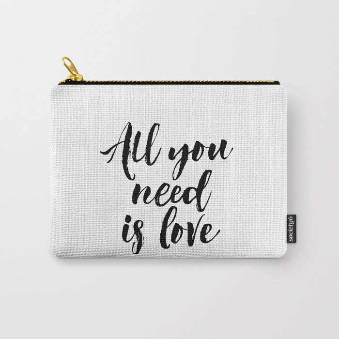 all you need is love print inspirational love print black and white ...