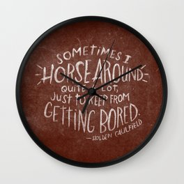 HOLDEN CAULFIELD Wall Clock