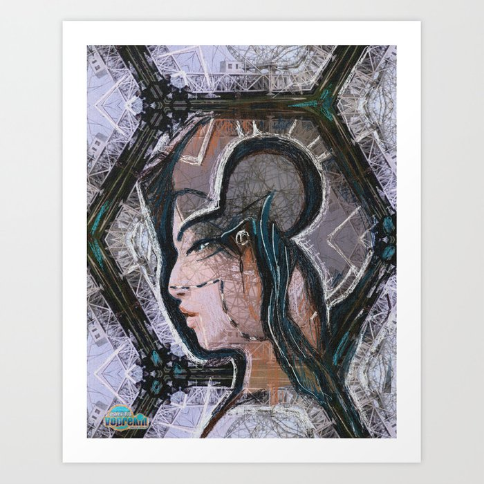 Determination. A portrait of a young girl Art Print