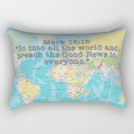 Mark 16:15 Rectangular Pillow