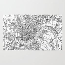 Vintage Map of Cincinnati Ohio (1915) BW Rug