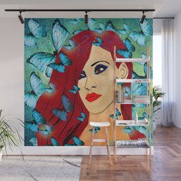 BUTTERLY WOMAN Wall Mural