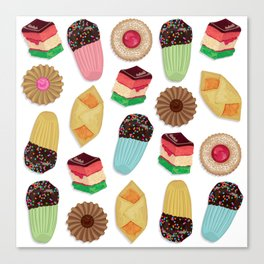 Assorted Cookie Pattern Canvas Print