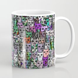 Gemstone Cats UltraViolet Green Palatte Coffee Mug