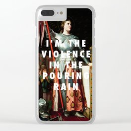 Jean Auguste Dominique Ingres, Joan of Arc at the Coronation of Charles VII (1854) / Halsey, Hurrica Clear iPhone Case