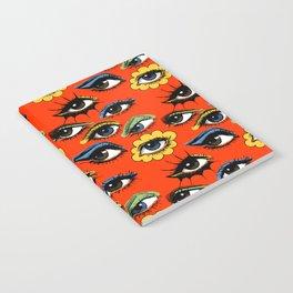 60s Eye Pattern Notebook