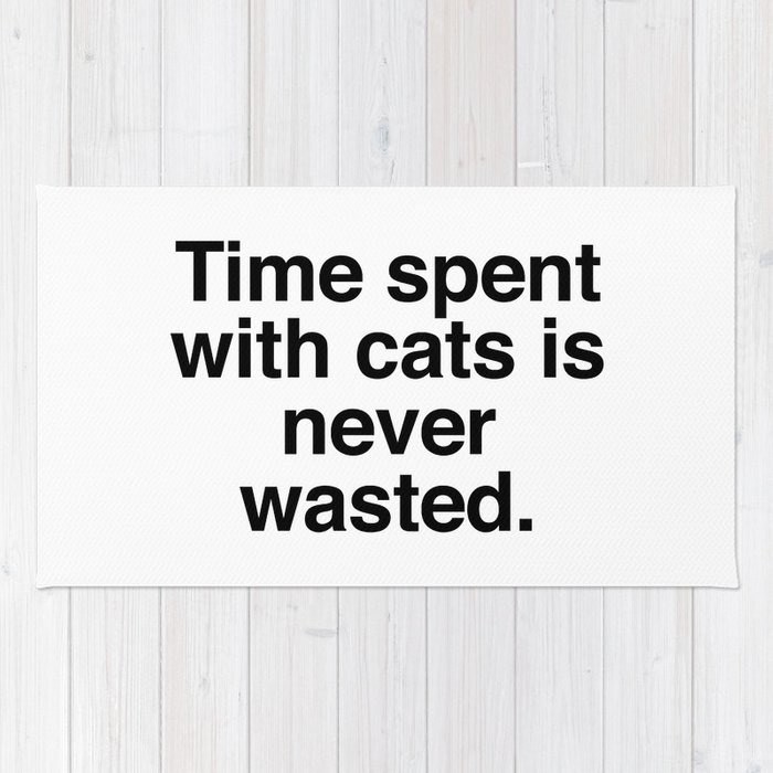 Time spent with cats is never wasted Rug