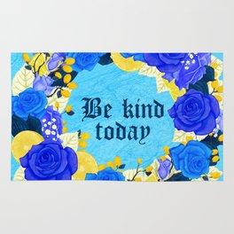 Flower wreath | Be kind Rug