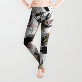 Wabi Sabi Brushstrokes Print Leggings
