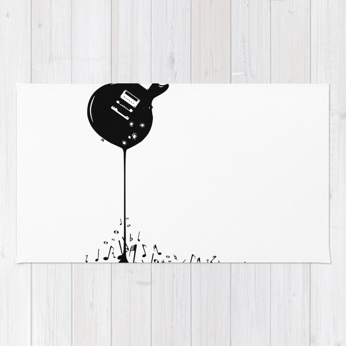 Bubbling Musical Notes Rug