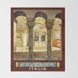 Vintage Ravenna Italy Travel Throw Blanket