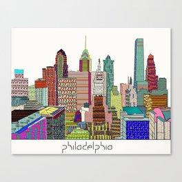 Philadelphia city sklyine Canvas Print