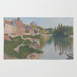 La berge ; Les Andelys Rug