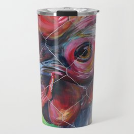 Caged Rooster Travel Mug