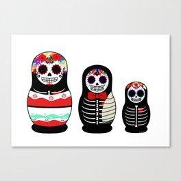 Halloween Russian dolls Canvas Print