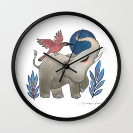 Save the Elephants Wall Clock