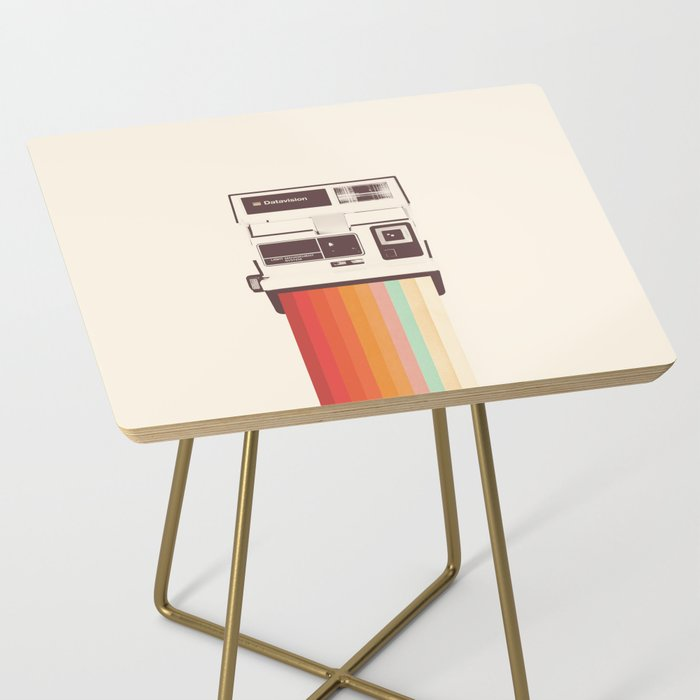 Instant Camera Rainbow Side Table