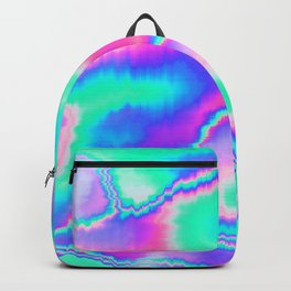 Holographic Glitch Backpack