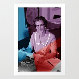 Women of NASA: Katherine Johnson Art Print