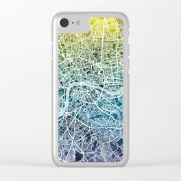 London England Street Map Clear iPhone Case