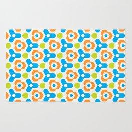 Retro Geometric Kaleidoscopic Seamless Pattern Rug