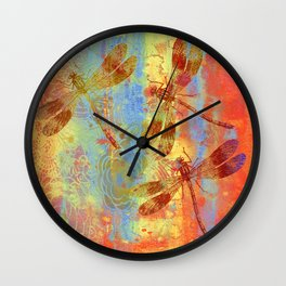 A Dragonflies QQW Wall Clock
