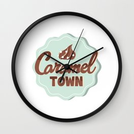 Caramel Town Wall Clock