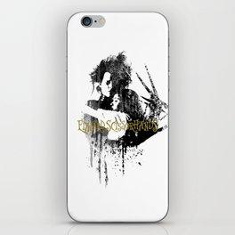Edward scissorhands #watercolour iPhone Skin