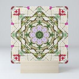 Orchids And Stone Wall Kaleidoscope 1764 Mini Art Print