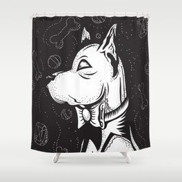 Family Portrait Dog Shower Curtain
