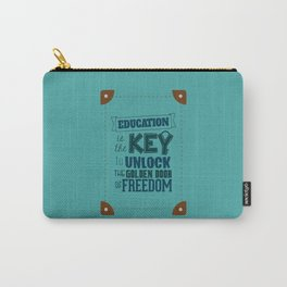 Lab No. 4 Education Is the Key George Washington Carver Inspirationa Quote Carry-All Pouch