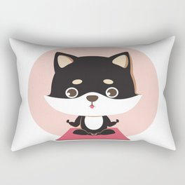 Yoga Shiba Inu Dog Rectangular Pillow