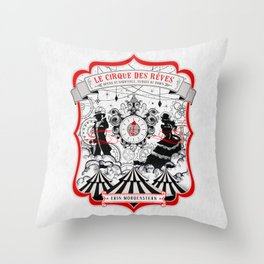 The Night Circus - light Throw Pillow