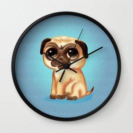 Cute Pug Wall Clock