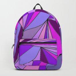 Purple triangle pattern Backpack