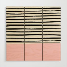 Millennial Pink x Stripes Wood Wall Art