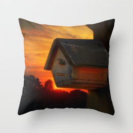 PLEASE COME HOME Throw Pillow