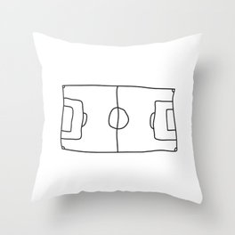 Football in Lines Throw Pillow