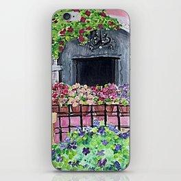 Geraniums and Bouganvilla iPhone Skin