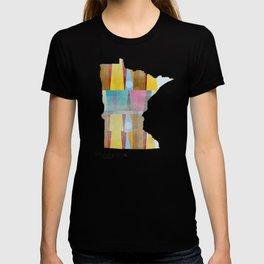Minnesota state map  T-shirt